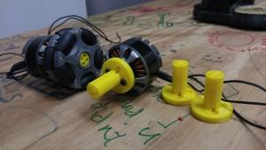 Motor/wheel mounts in progress