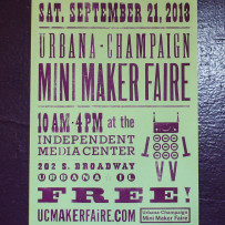 Our new Mini Maker Faire poster is here!