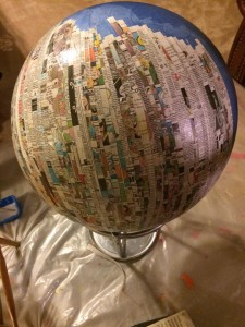 First layer of paper mache for the body