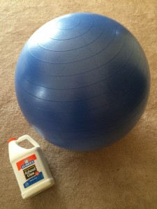 Yoga ball and glue for the body